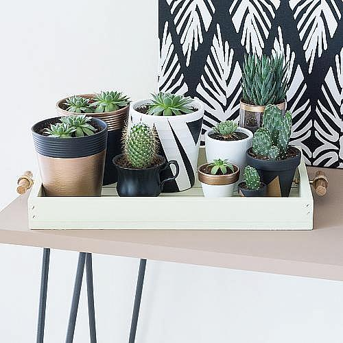 Rustic Chalky Finish Plant Caddy Project By Decoart