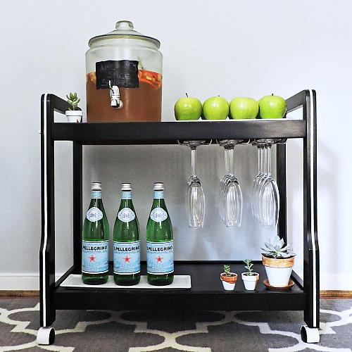 Drink Cart Upcycle With Satin Enamels Project By Decoart
