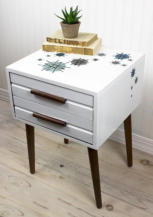Retro Two Door End Table   Project By DecoArt