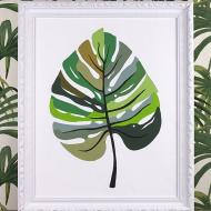 Paint by Number Tropical Leaf