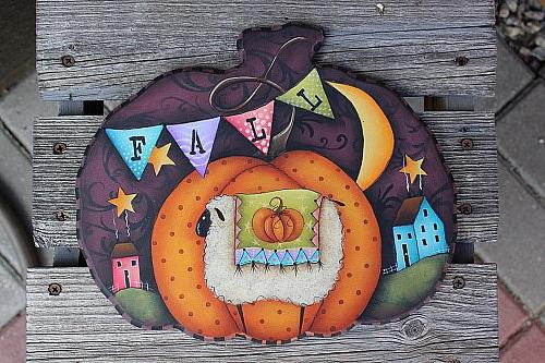Celebrate Fall Lumpy Pumpkin Plaque