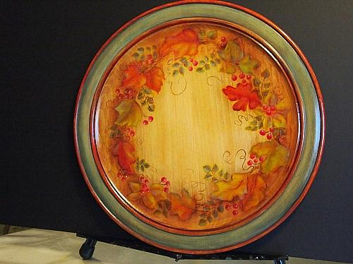 What Color Is Sienna >> Colors of Fall Decorative Plate - Project by DecoArt