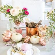 Rose Gold & Pink Tablescape