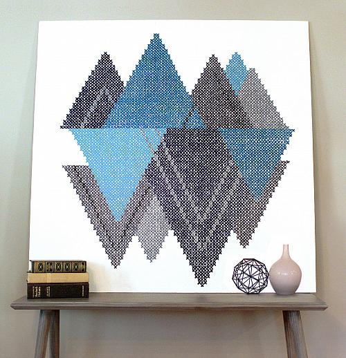 Oversized Abstract Cross Stitch Decor Project By Decoart