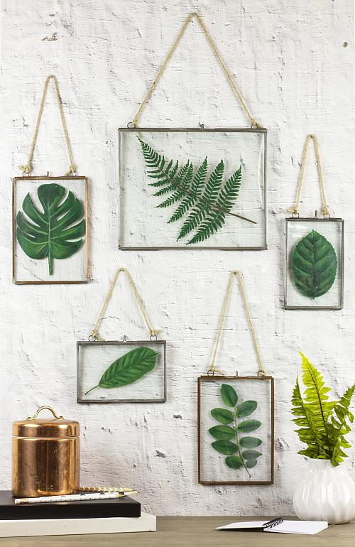 Framed Faux Pressed Leaves Project By Decoart