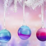 Ombre Christmas Ornaments