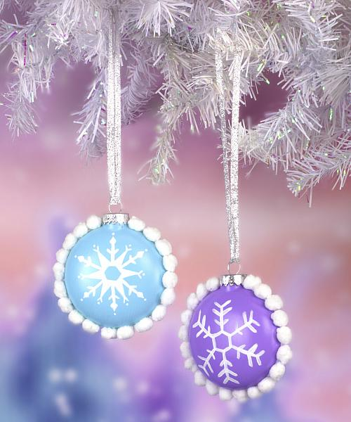 snowball and snowflake ornaments project by decoart