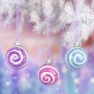 Swirl Christmas Ornaments