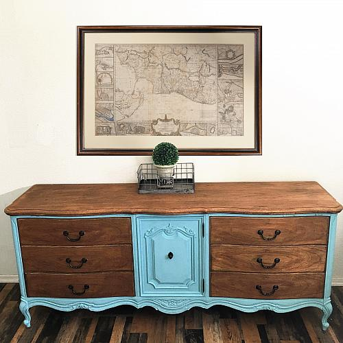 Stained And Painted Vintage Dresser Project By Decoart