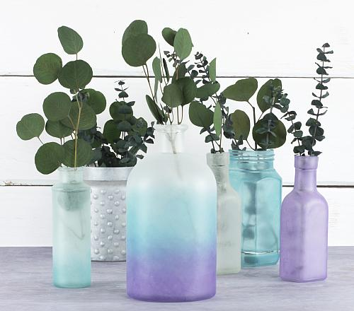 Cool Colors Frosted Glass Collection