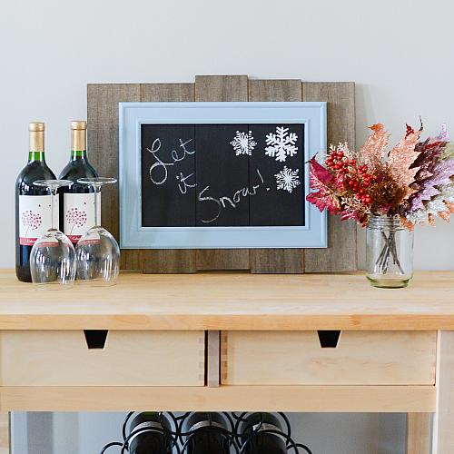 Winter Snowflakes Chalkboard Sign