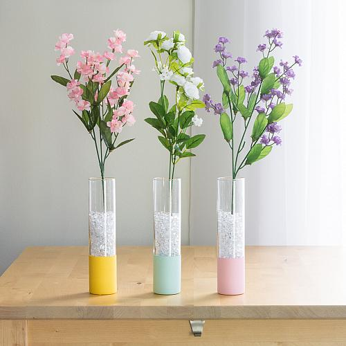 Bright Pastel Paint Dipped Vases Project By Decoart