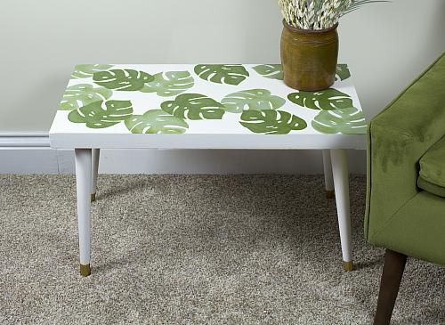 Layered Monstera Leaf Table
