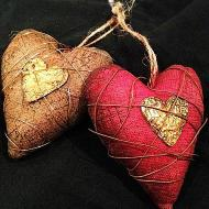 Decorative Fabric Hearts