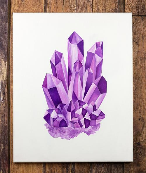 Image result for gemstone acrylic painting