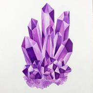 Purple Crystal Painting