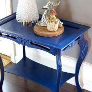 Satin Side Table Makeover