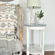 Small Satin Side Table