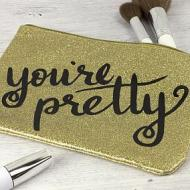 Pretty Glitter Make Up Bag