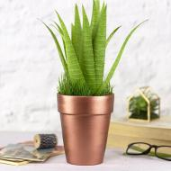 Rose Gold Flower Pot