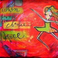 Dancing Girl Painting