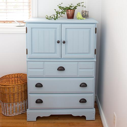 Serene Chalky Finish Dresser Makeover