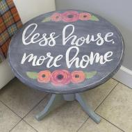 Hand Lettered Table