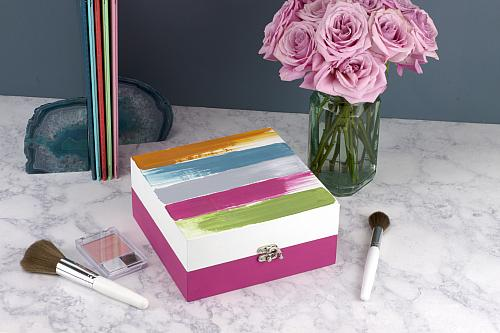 Colorful Abstract Brushstroke Jewelry Box