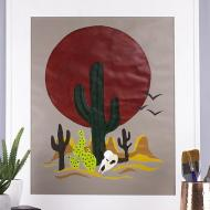 Sunset Cactus Paint By Number