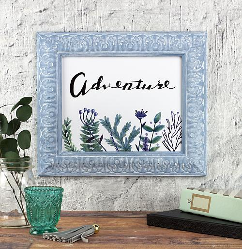 Chalky Finish and White Wax Vintage Style Frame
