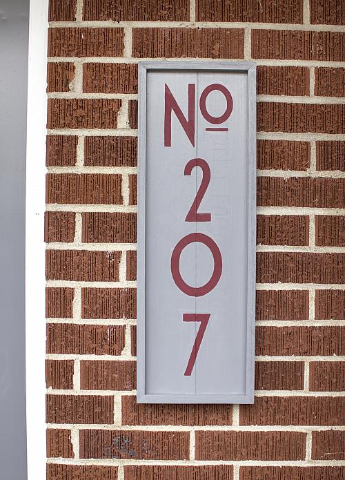Updated House Number Sign