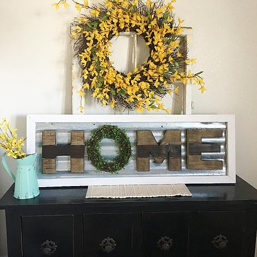 Corrugated Metal Quot Home Quot Sign Project By Decoart