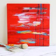 Modern Art Red Canvas