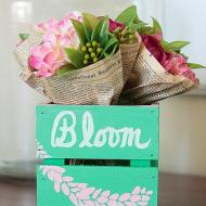 Spring Flowers Crate