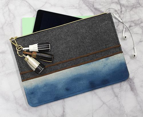 Watercolor Fabric Clutch