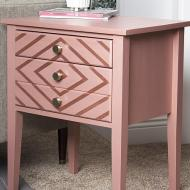 Matte Metallic Nightstand