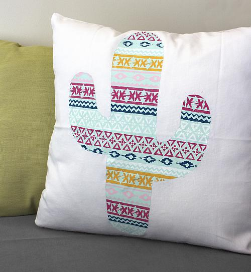 Cactus Chalky Finish Pillow
