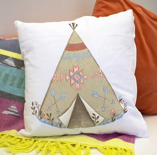 Floral and Arrows Teepee Pillow