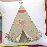 Floral Teepee Pillow