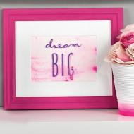Dream Big Framed Wall Decor