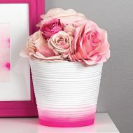 Pink and White Ombre Pots