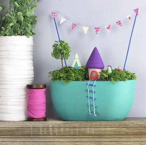 Bright And Cheerful Indoor Fairy Garden Project By Decoart