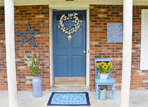 Country Blue Front Door Project By Decoart
