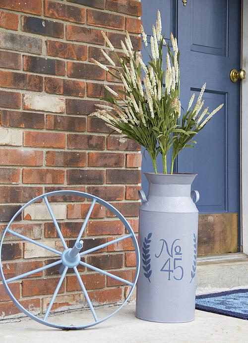 Country Milk Can Vase