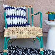 Painted Rattan Chairs