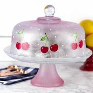 Cheery Cherry Cake Plate