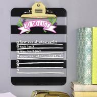 """""""To Do List"""" Striped Clipboard"""