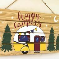 Happy Camper Outdoor Sign
