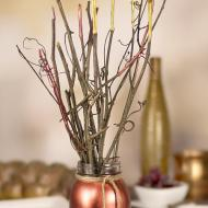 Metallic Twig Centerpiece