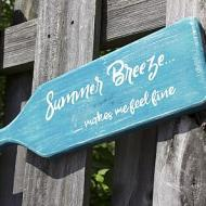 """Summer Breeze"" Paddle Sign"